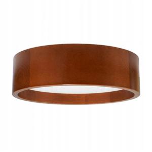 TEMAR LIGHTING Stropné LED svietidlo Deep, Ø 38cm, hnedé