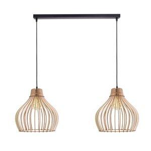 EULUNA Závesná lampa Barrel, dvoj-plameňová