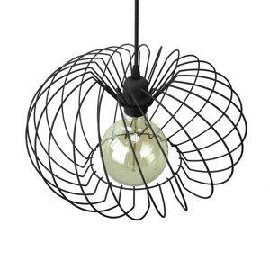 EULUNA Závesná lampa Kula, 1-plameňová, Ø 37cm, čierna