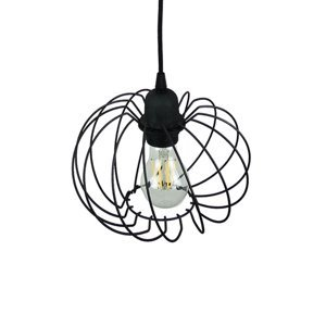 TEMAR LIGHTING Závesná lampa Kula, 1-plameňová, Ø 22cm, čierna