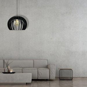 EULUNA Závesná lampa Kula, 1-plameňová, čierna Ø 25cm