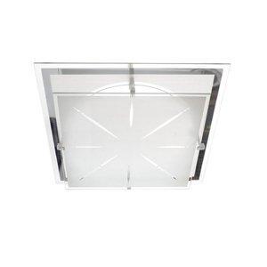 TEMAR LIGHTING Stropné svietidlo P2 zo skla 31,5 x 31,5cm