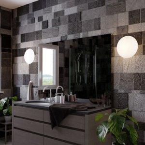 TEMAR LIGHTING Kúpeľňové stropné svietidlo Twister, Ø 30cm 2x40W