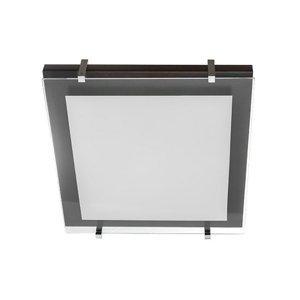 TEMAR LIGHTING Stropné svietidlo P1 z dreva a skla 30 x 30cm
