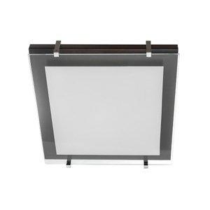 TEMAR LIGHTING Stropné svietidlo P1 z dreva a skla 40 x 40cm
