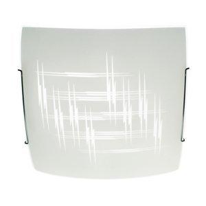 TEMAR LIGHTING Stropné svietidlo Scratch zo skla, 40 x 40cm