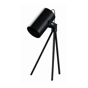 EULUNA Stolná lampa La Tuba 450 trojnožka svetlo, čierna