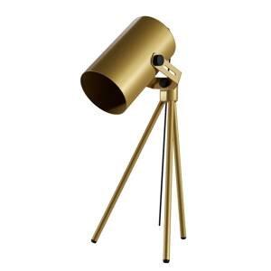 EULUNA Stolná lampa La Tuba 450 trojnožka svetlo, zlatá