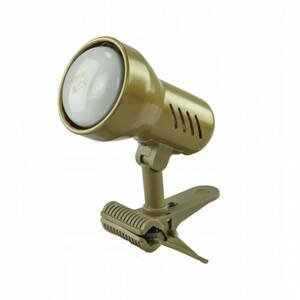 EULUNA Upínacia lampa KM Gold s káblom a zástrčkou, E14