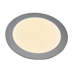 Heitronic Zapustený LED panel 27636, plochý, okrúhly, 12W