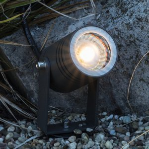 Heitronic Svetlo s hrotom do zeme Salina otočné čierne IP65