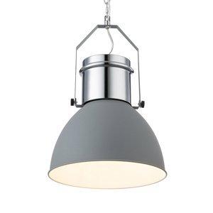 Heitronic Závesná lampa Kutum, sivá, chróm