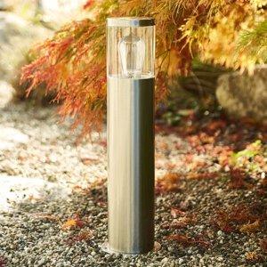 Heitronic Soklové svietidlo Naxos z ušľachtilej ocele