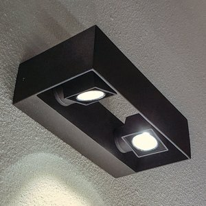 Heitronic Vonkajšie nástenné LED svietidlo Vigo, 2-plameňové