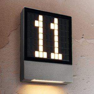 Heitronic LED osvetlenie čísla domu Pavia, zásuvný systém