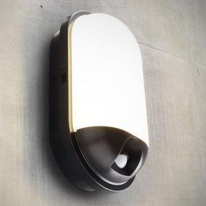 Heitronic Vonkajšie nástenné LED Toledo s detektorom pohybu