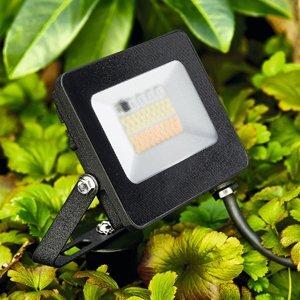 Heitronic Vonkajšie LED svetlo Kingston, hrot do zeme, RGBW