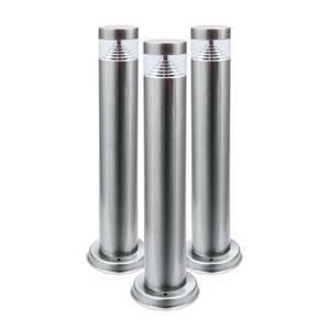Heitronic Soklové LED Amberg ušľachtilá oceľ súprava 3 kusov