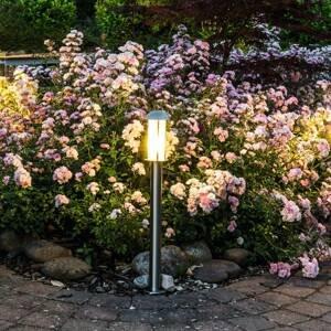Heitronic Soklové LED Coburg z ušľachtilej ocele, 3 kusy