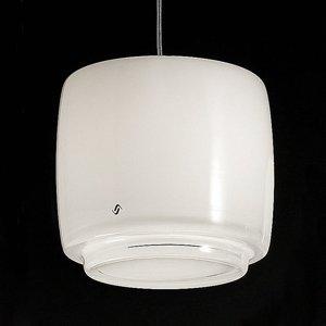 Vistosi Sklenená závesná lampa Bot, Ø 16cm