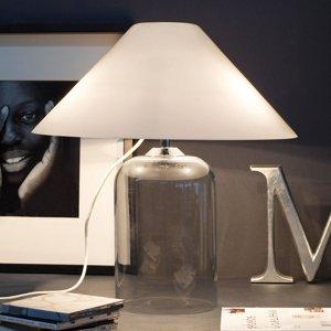Vistosi Stolná lampa Alega s čírym skleneným podstavcom