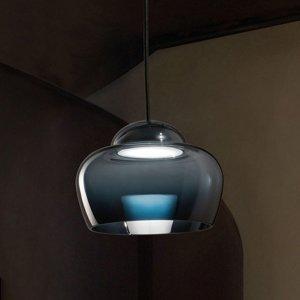 Vistosi LED závesné svietidlo Cristallina čierne