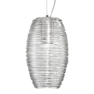 Vistosi Závesná lampa Damasco číra Ø 15 cm