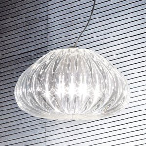 Vistosi Závesná lampa Diamante Crystal Ø 30 cm