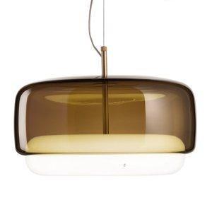 Vistosi LED závesné svietidlo Jube SP G sklo hnedé/biele