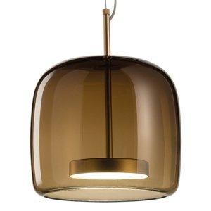 Vistosi Závesná lampa Jube SP 1 P zo skla hnedá
