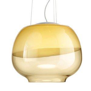 Vistosi Dizajnová závesná lampa Mirage SP, jantár