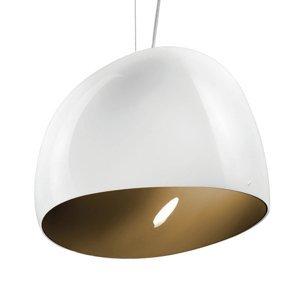 Vistosi Závesná lampa Surface Ø 40cm E27 biela/hnedá