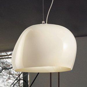 Vistosi Závesná lampa Surface Ø 40cm E27 biela/matná biela