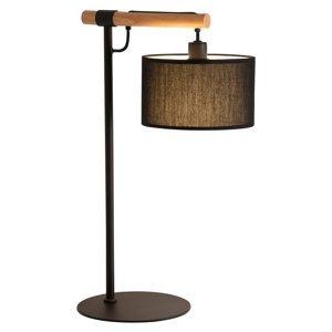 Viokef Stolná lampa Romeo textilné tienidlo, čierna