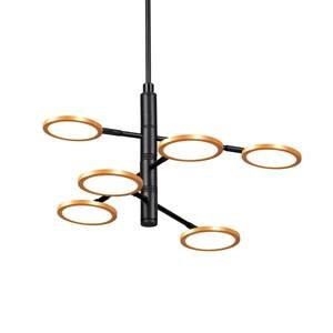 Viokef Závesné LED svietidlo Sparkle, Ø 60cm 6-plameňové