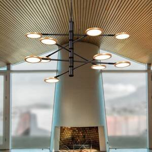 Viokef Závesné LED svietidlo Sparkle Ø 80cm 10-plameňové