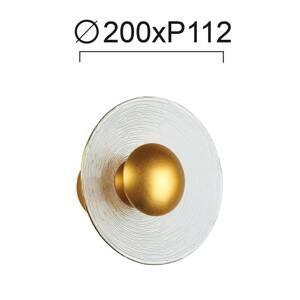Viokef Nástenné LED svietidlo Glamour zo skla