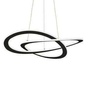 Viokef Závesné LED svietidlo Charlie, Ø 62cm, čierne