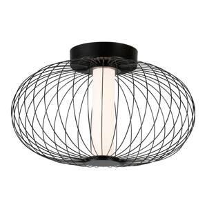 Viokef Stropné LED Elli s klietkovým tienidlom, čierne