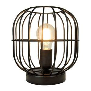Viokef Stolná lampa Zenith v tvare klietky, čierna