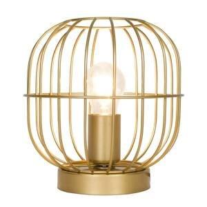 Viokef Stolná lampa Zenith v tvare klietky, zlatá