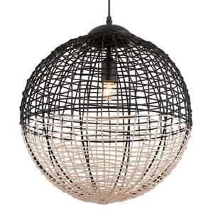 Viokef Závesná lampa Omicron z ratanu, čierna/béžová