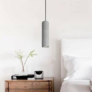 Viokef Závesná lampa Phenix z betónu, podlhovastá