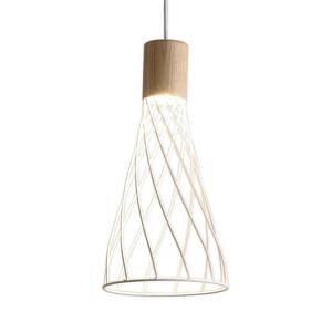 Viokef Závesná lampa Hank s mriežkovým tienidlom, biela