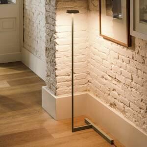 Vibia Vibia Flat stojaca LED lampa výška 100cm čierna