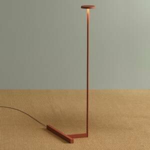 Vibia Vibia Flat stojaca LED lampa výška 100cm terakota