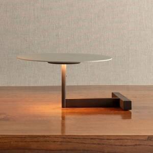 Vibia Vibia Flat stolná LED lampa výška 16cm sivá L1