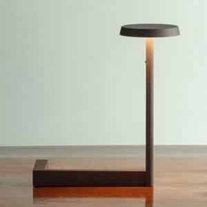 Vibia Vibia Flat stolná LED lampa výška 30cm čierna