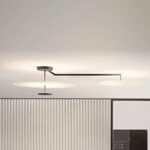 Vibia Vibia Flat stropné LED svetlo 3-pl. Ø 90 cm biele