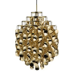 VERPAN VERPAN Spiral SP01 – závesná lampa v zlatej